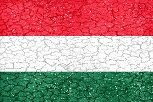 Hungary Grunge Style National Flag