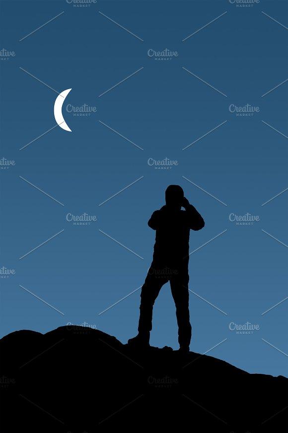 Man Taking Photos At Sunset Patagonia Argentina