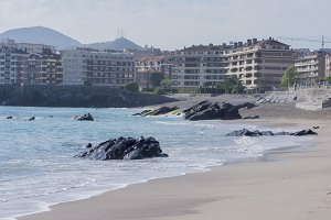 The beach of Castro Urdiales