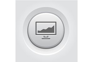 Statistics icon. Button Design.