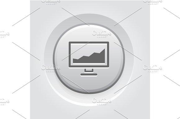 Statistics Icon Button Design