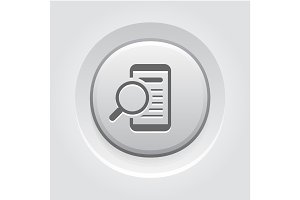 Mobile Phone with Magnifying Glass Search Icon