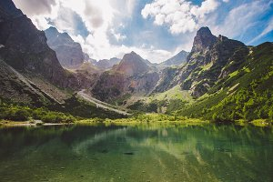 lake in the slovakia mountains