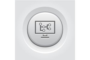 Mind Map Icon. Business Concept