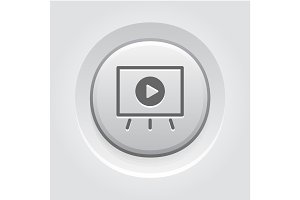 Video Presentation Icon. Business Concept