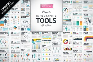 [-45%!] Infographic Elements Bundle