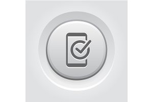 Mobile Register Icon. Online Learning
