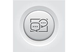 Discussion Board Icon. Business Concept