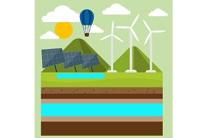 Renewable energy like hydro, solar