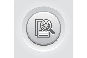 Audit Icon. Business Concept