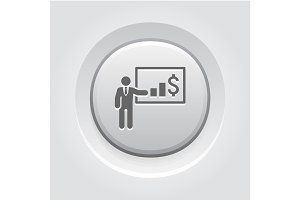 Presentation Icon. Business Concept
