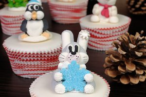 Sugar Christmas figurine rabbit