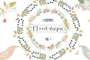 Floral clip art set 5