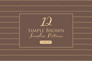 Simple Brown Seamless Pattern