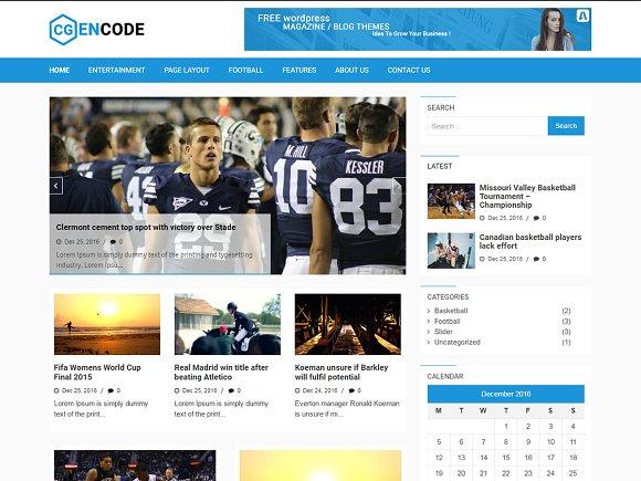 Encode WordPress Theme