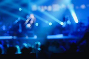 Abstract blurred. Rock concert in the night club
