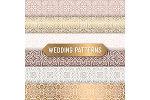 Ethnic floral seamless wedding patterns