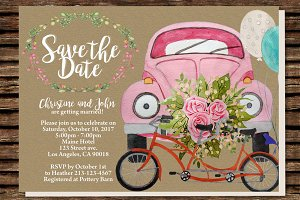 DIY Wedding Car Printable Invitation