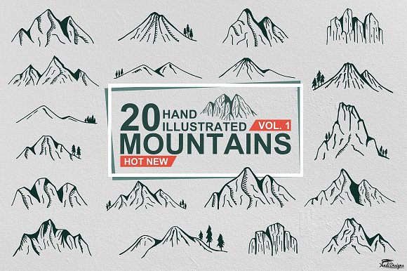 Hand Illustrated Mountain Vol 1