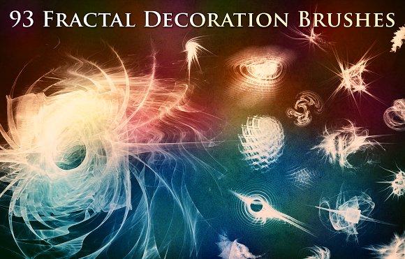 93 Fractal Decoration Brushes