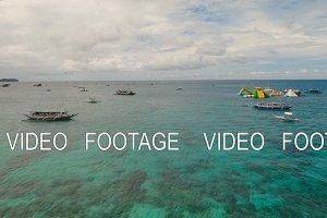 Sea attraction on the beach resort.Boracay island Philippines.