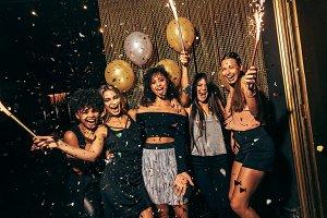 Girls in the nightclub