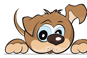Puppy dog, vector illustration