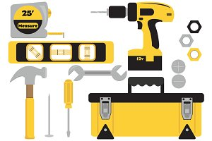 Vector Tool Set Illustrations