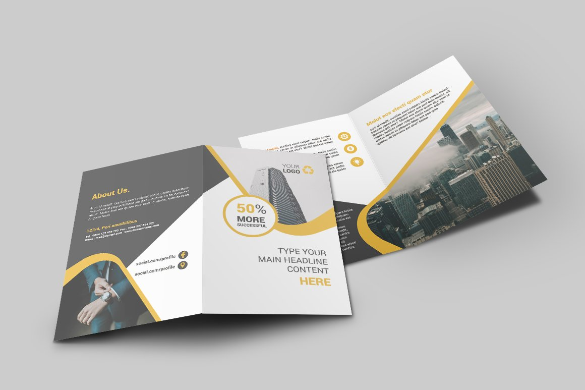 bifold brochure template - business bi fold brochure brochure templates creative
