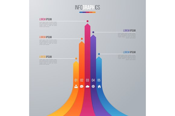 Bar Chart Infographic Template For Data Visualization With 5 Opt