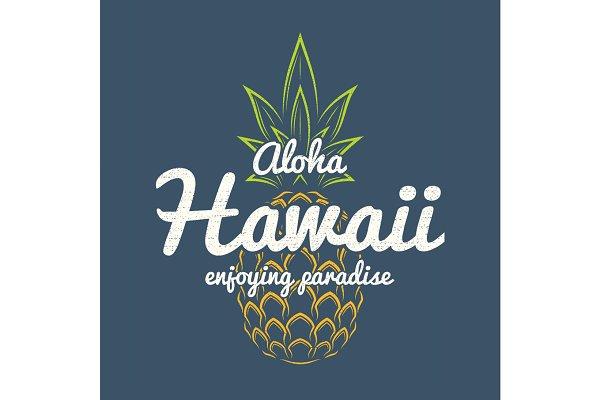 Hawaii enjoying paradise tee print…