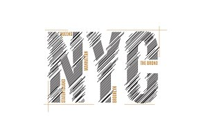 New York tee print. T-shirt design graphics stamp label typograp