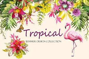 Tropical collection. Summer design.
