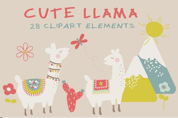 Cute Llama Clipart