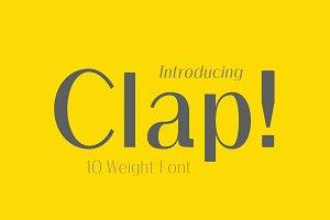Clap Typeface / Stylised Sans Font