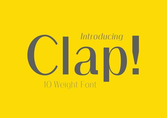 Clap Typeface Stylised Sans Font