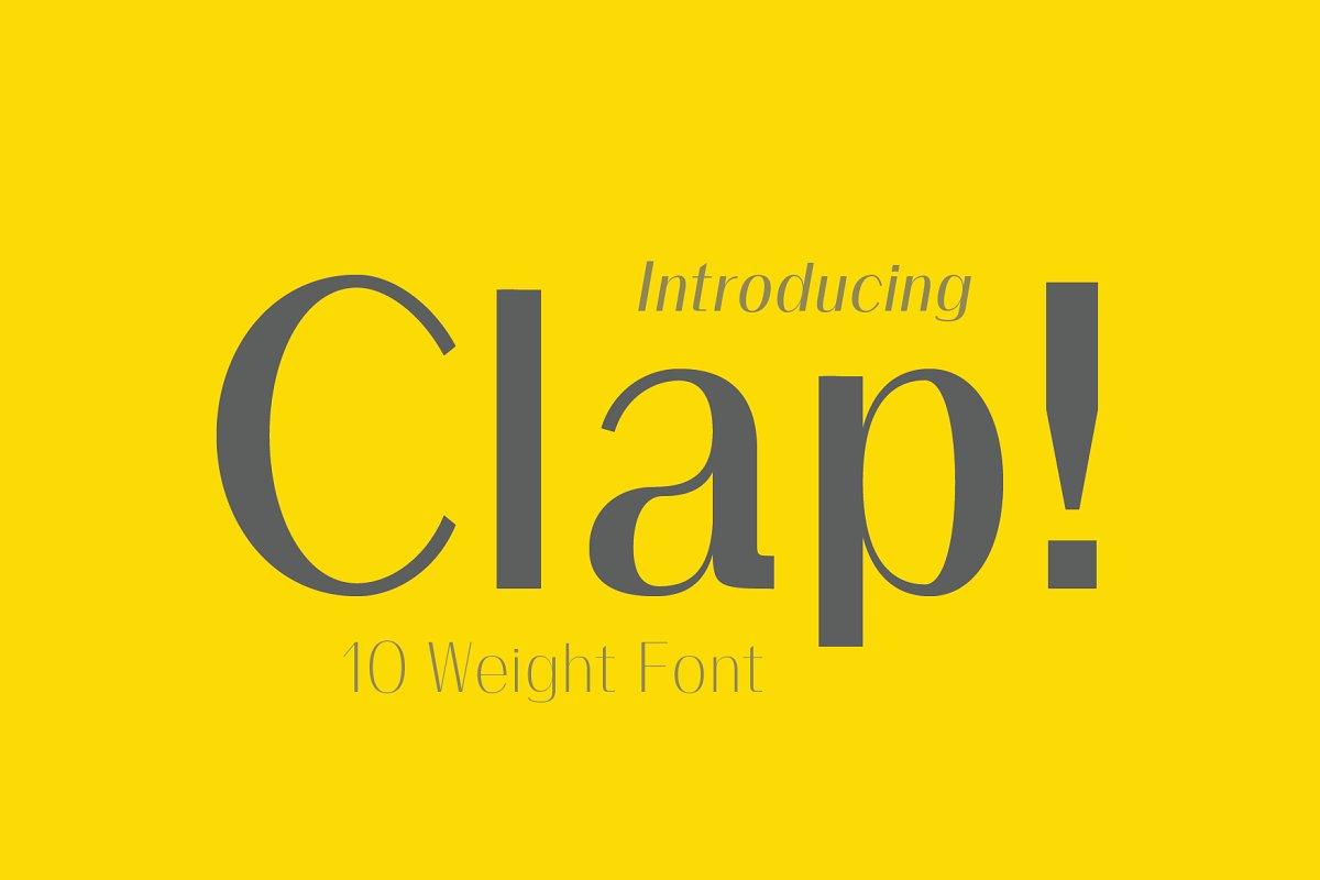 Clap Typeface / Stylised Sans Font ~ Sans Serif Fonts ~ Creative Market