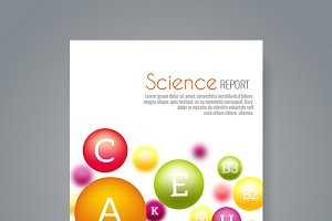 Science brochure cover template