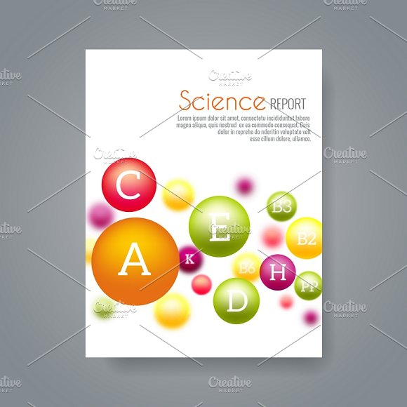 science brochure template - brochure cover psd