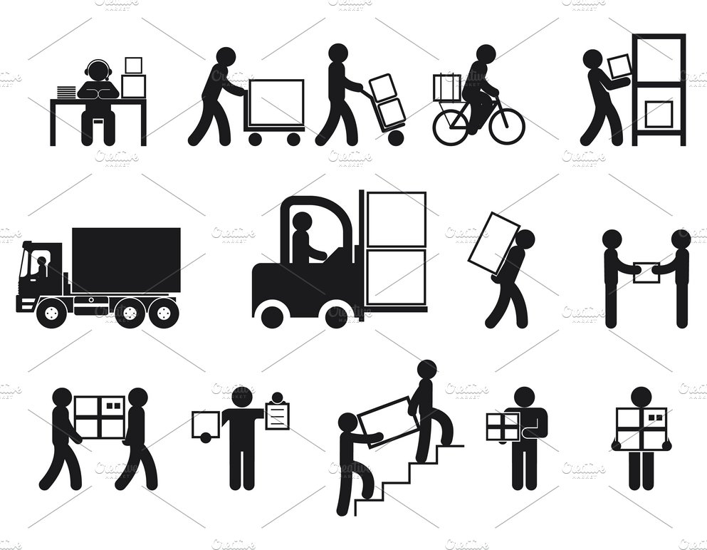 Logistic people pictograms ~ Icons ~ Creative Market