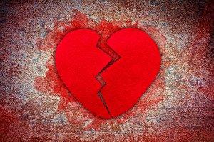 Felt broken heart