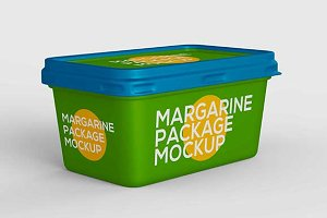 margarine package mockup