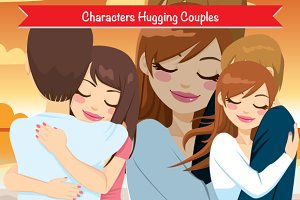Hugging Couples