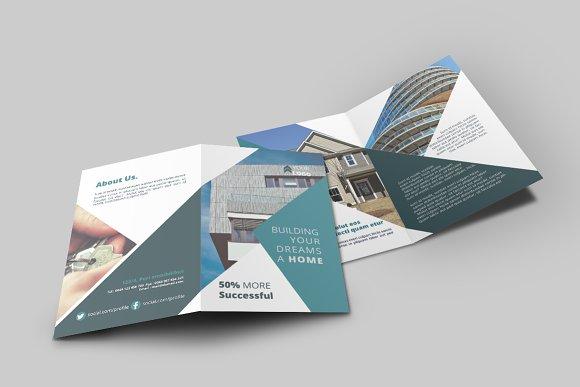 Real Estate BiFold Brochure Brochure Templates Creative Market - Bi fold brochure templates