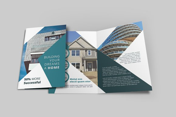 real estate bi fold brochure brochure templates creative market