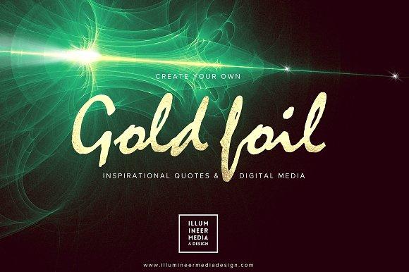 GOLD FOIL WORD OVERLAYS