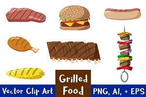 Grilled Food Clipart