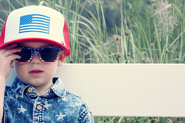 Cute Kid on 4th of July