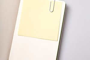 Open paper notepad blank page
