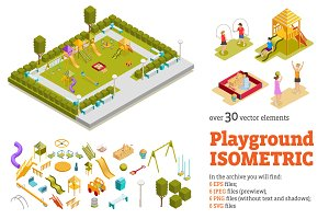 Playground Isometric Set
